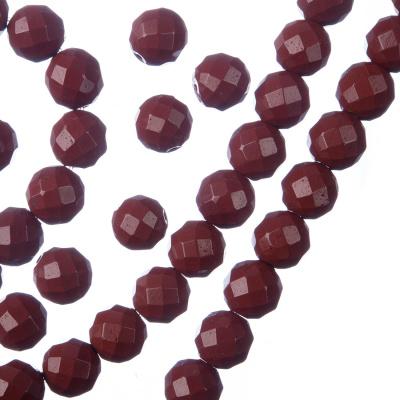 Diaspro Rosso - Filo di sfere sfaccettate da 8mm