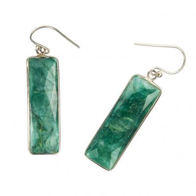 Orecchini di Smeraldo e Argento 925