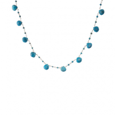Collana rosario in Turchese e Argento 925