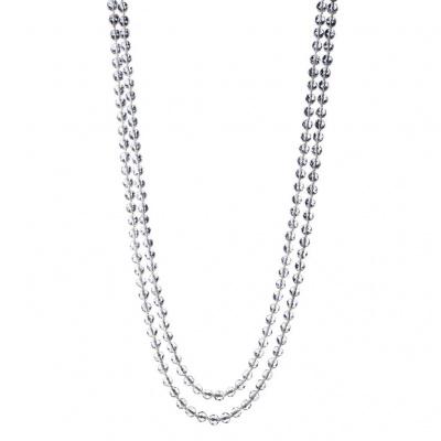 Collana di Cristallo Di Rocca qualità Extra e chiusura in Argento 925 con Granato
