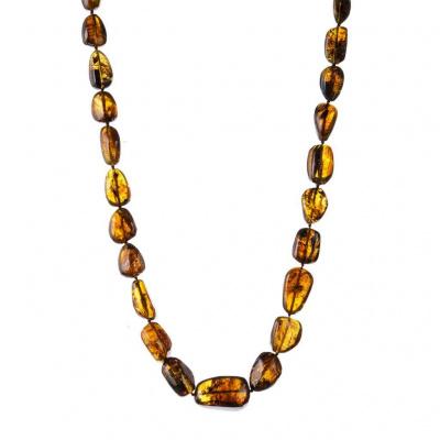Collana di Ambra Messicana elementi digradanti e Argento 925