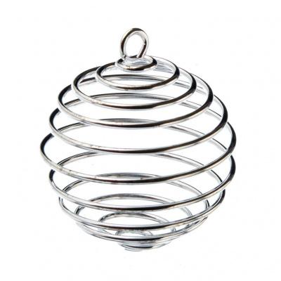 Gabbietta Spirale Grande per Ciondoli e Cristalli