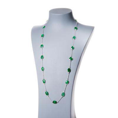Collana di Smeraldo e Argento 925