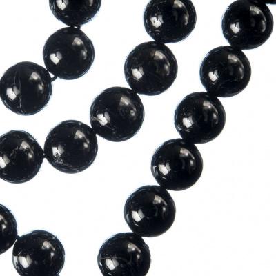 Tormalina Nera - Filo di sfere lisce da 10mm
