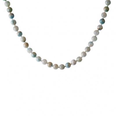 Collana sfere 8 mm di Larimar e Argento 925