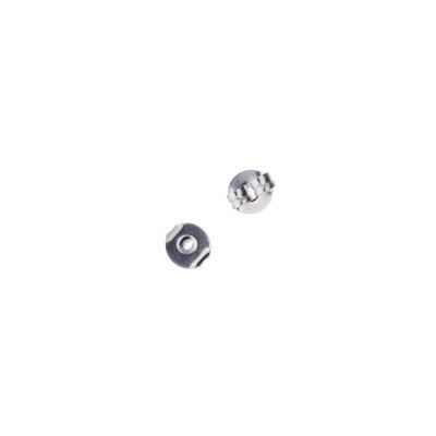 Farfallina base tonda per Orecchini 5mm color Argento - 6.3 gr. ( circa 50 pz.)