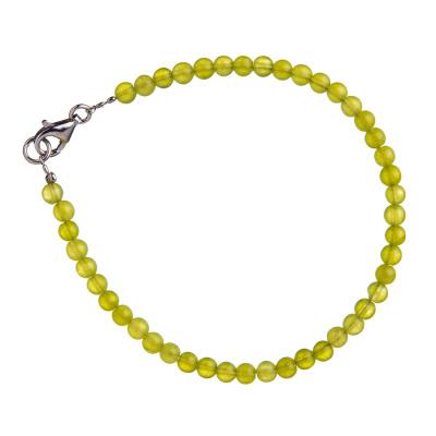 Bracciale in Giada Lemon e Argento 925