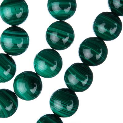 Malachite - Filo di sfere lisce da 12mm