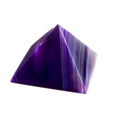 Piramide in Agata Viola Striata