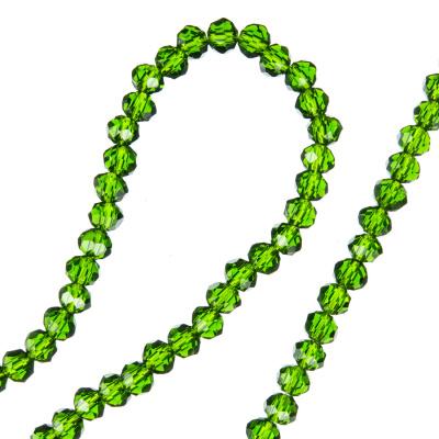 Filo di Cristalli a Rondelle Color Verde Scuro