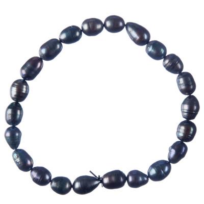 Cavigliera elastica di Perle nere
