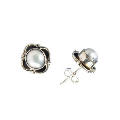 Orecchini di Perle tonde e Argento 925