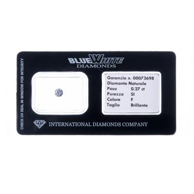 Diamante garantito con Gift Box - F/SI - da 0,20 a 0,27 carati