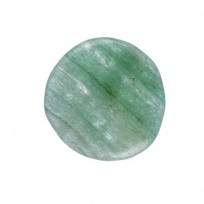 Quarzo Verde piatto, liscio e burattato