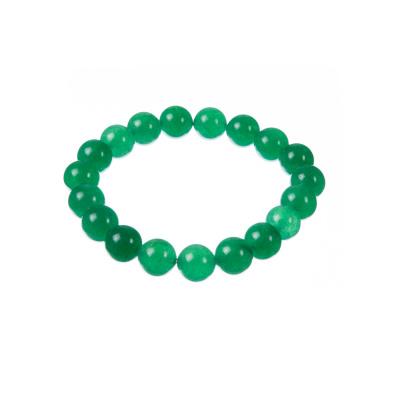 Bracciale Elastico a Sfere di Avventurina  Verde, sfere 10 mm