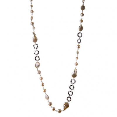 Collana in Perle Bianche e Argento 925