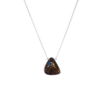 Collana di Opale Boulder e Argento 925
