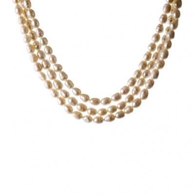 Collana di Perle, Madreperla e Ottone