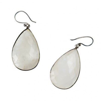 Orecchini di Labradorite Bianca e Argento 925