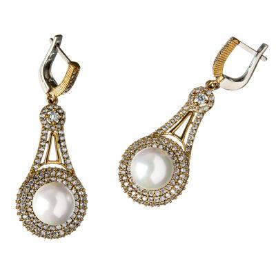 Orecchini di Perle in Argento 925 e Bronzo - Stile Turco