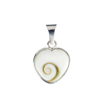 Ciondolo cuore Occhio di Shiva/Santa Lucia in Argento 925