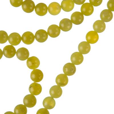 Olivina - Filo di sfere lisce da 6mm