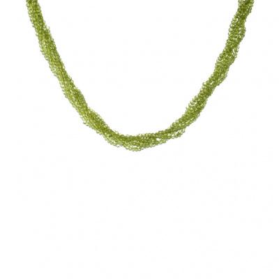 Collana Torchon di Prasiolite e Argento 925