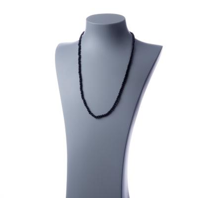 Collana lunga Lava e Ag 925, sfere 4mm