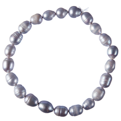 Cavigliera elastica di Perle grigie