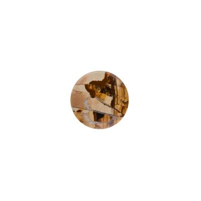Cabochon in Pietra Paesina - Tondo diametro 2 cm.