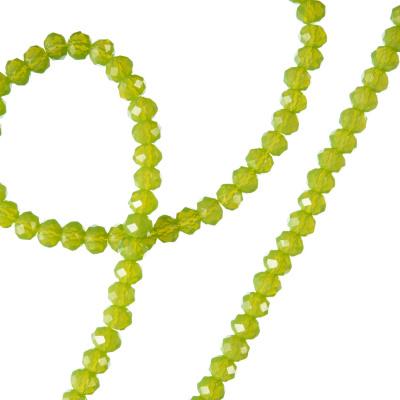 Filo di Cristalli a Rondelle Color Verde