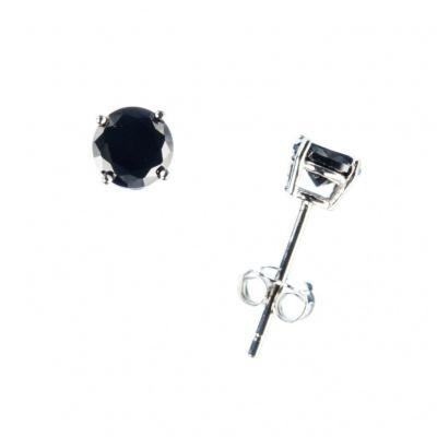 Orecchini con Onice Nera e Argento 925 - 0.5 cm