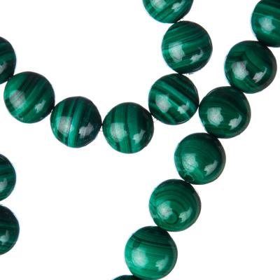 Malachite - Filo di sfere lisce da 10mm