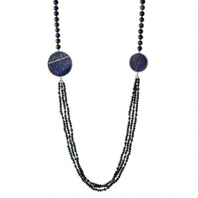 Collana lunga di Lapislazzuli e Azzurrite