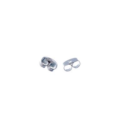 Farfallina per Orecchini color Argento 6,5mm - 6.5 gr. (circa 50 pz.)