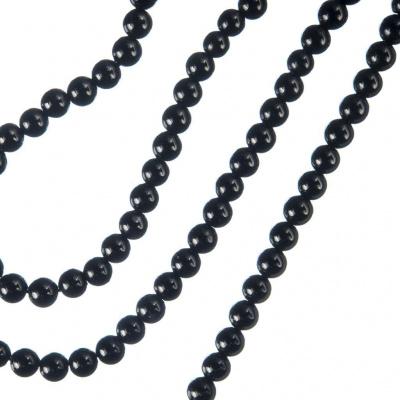 Tormalina Nera - Filo di sfere lisce da 4mm