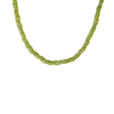 Collana di Olivina Torchon e Argento 925