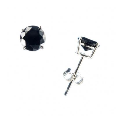 Orecchini con Onice Nera e Argento 925 - 0.6 cm