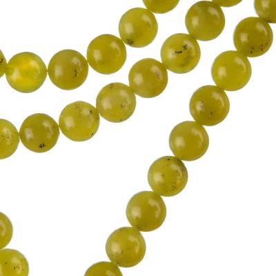 Olivina - Filo di sfere lisce da 8mm