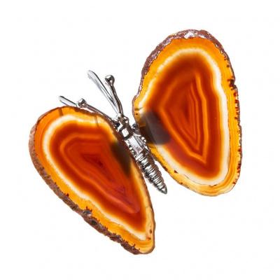 Farfalla in Corniola Striata