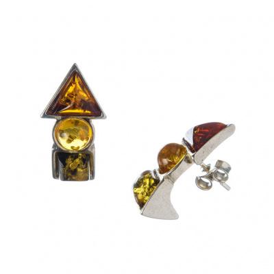 Orecchini Ambra e Argento 925