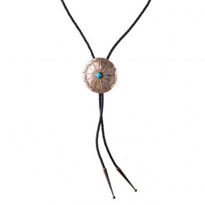 Collana Cravatta Indiana Navajo in Turchese e Argento 925