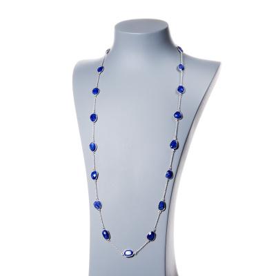 Collana di Zaffiro e Argento 925