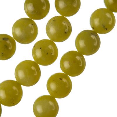Olivina - Filo di sfere lisce da 12mm