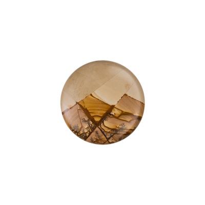Cabochon in Pietra Paesina - Tondo diametro 3 cm.