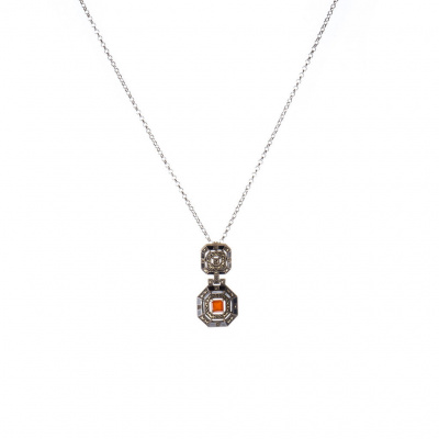 Collana di Corniola e Argento 925