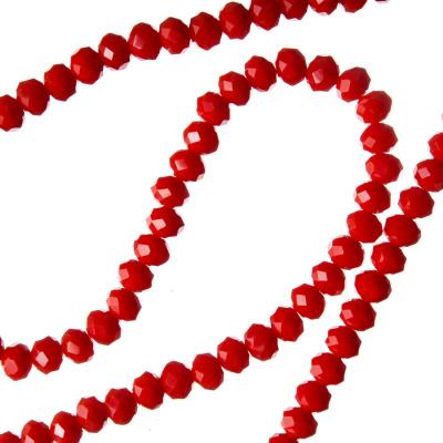 Filo di Cristalli a Rondelle Color Rosso