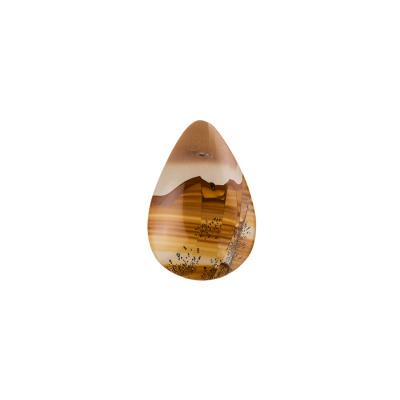Cabochon in Pietra Paesina - Goccia 2.2 x 3.2 cm.