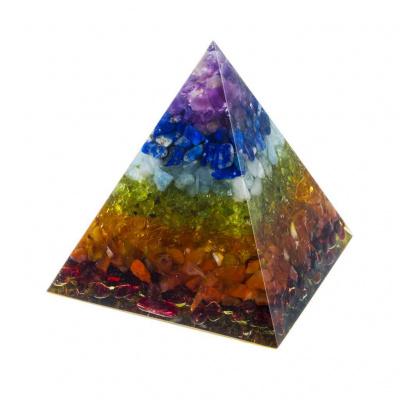 Piramide di Orgonite 7 Chakra - 6 cm