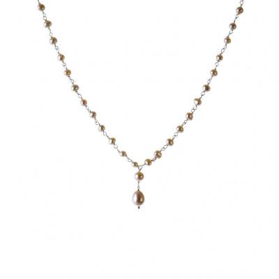 Collana di Perle Bianche e Argento 925